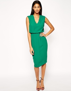 Asos - V Neck Pencil Dress