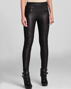 Bcbgmaxazria  - Kalin Faux Leather Motorcycle Leggings