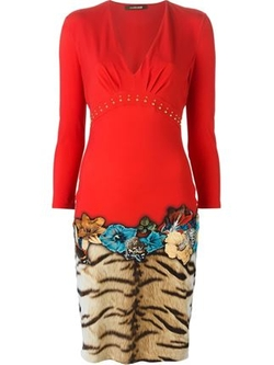 Roberto Cavalli - Print Fitted Dress