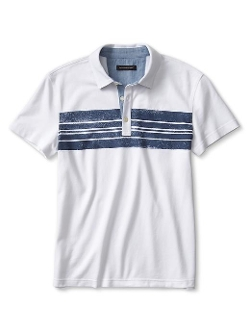 Banana Republic - Slim Chest-Stripe Pique Polo Shirt