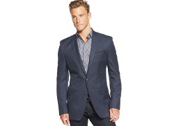 Tallia - Mini-Checked Slim-Fit Blazer