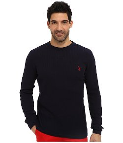 U.S. Polo Assn.  - Long Sleeve Crew Neck Solid Thermal Shirt