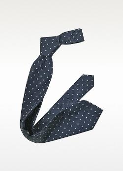 Forzieri - Outlined Diamond Pattern Woven Silk Tie