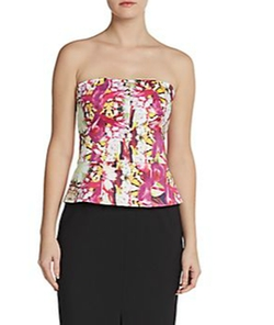 Rachel Roy - Strapless Combo Peplum Dress