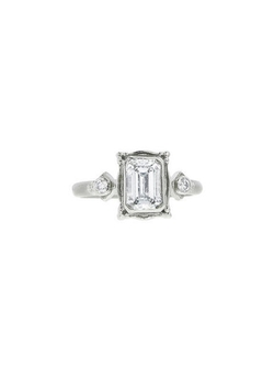 Megan Thorne - Emerald Cut Picture Frame Ring