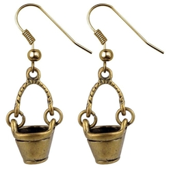 Joe Cool - Dangle Bucket Earrings