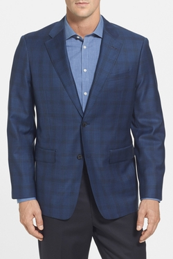 John W. Nordstrom - Classic Fit Plaid Wool Sport Coat