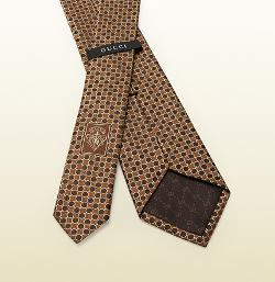 GUCCI - Diamond Pattern Silk Tie