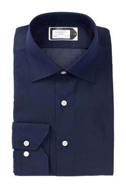Lorenzo Uomo  - Woven Long Sleeve Trim Fit Dress Shirt