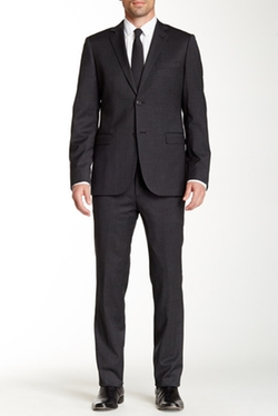 Zanetti - Mini Stripe Two Button Notch Lapel Slim Fit Wool Suit