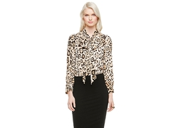 Vince Camuto - Animal Estate Bow Neck Blouse