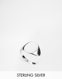 Asos - Sterling Silver Signet Ring