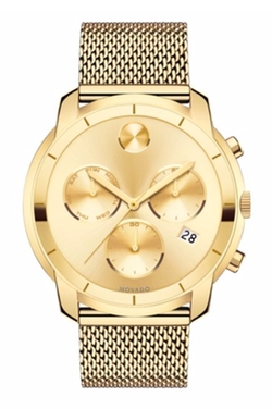 Movado  - Ion-Plated Stainless Steel Chronograph Bracelet Watch
