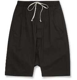 Rick Owens - Drop-Crotch Cotton Shorts