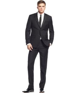 DKNY - Extra Slim-Fit Black Tuxedo Suit