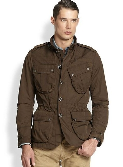 Ralph Lauren Black Label  - Wax-Coated Canvas Military Coat