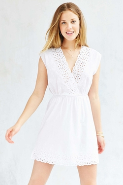 Urban Outfitters - Cope Eyelet Volie Wrap Dress