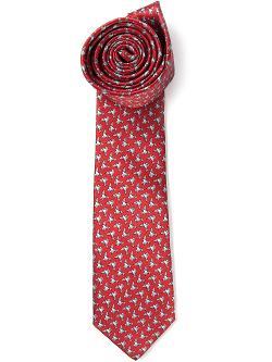 Lanvin  - Paper Bird Print Tie