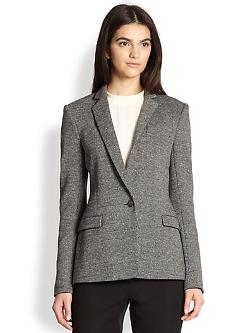 Theory  - Dancey Kenmore Tweed-Effect Stretch Knit Blazer