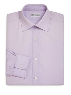 Charvet  - Regular-Fit Solid Dress Shirt
