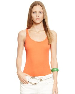 Ralph Lauren -  Cotton Teaser Tank Top