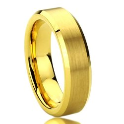 Prime Pristine - Gold Plated Beveled Ring