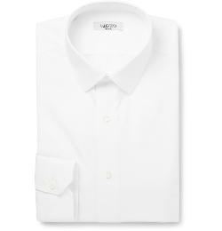 Valentino - White Slim-Fit Cotton Shirt