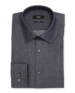 Boss Hugo Boss - Slim-Fit Chambray Dress Shirt