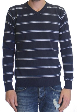 Dinamit Jeans - Cotton V-Neck Stripe Spring Summer Sweater