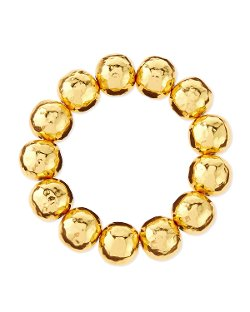 Nest   - Hammered Gold-Plated Bead Bracelet
