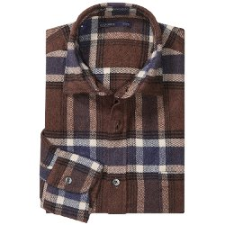 Mason's - Brushed Cotton Plaid Sport Shirt