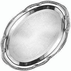 American Metalcraft  - Stainless Steel Affordable Elegance Oval Serving Tray
