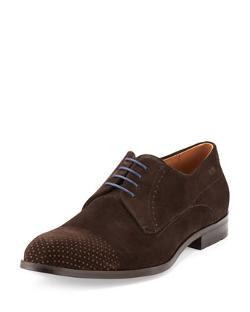 Boss Hugo Boss  - Geneonio Perforated Suede Lace-Up Shoe