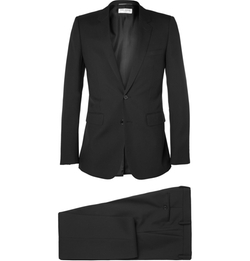 Saint Laurent - Black Wool-Gabardine Suit