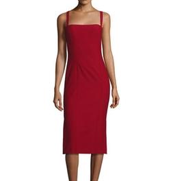 Cinq A Sept  - Ela Ponte Sleeveless Midi Sheath Dress