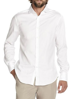 Brunello Cucinelli  - Solid White Sportshirt