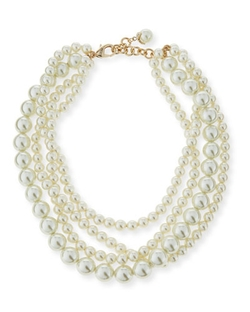 Lulu Frost - Simulated Pearl Multi-Strand Necklace