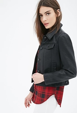 Forever 21 - Collared Faux Leather Jacket