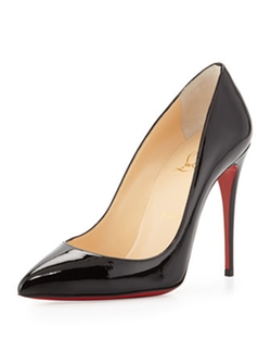 Christian Louboutin  - Pigalle Follies Point-Toe Red Sole Pumps