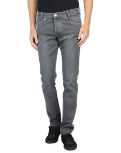 Betwoin - Solid Color Denim Pants