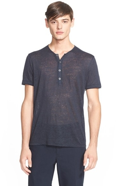 John Varvatos Collection - Linen Henley Shirt