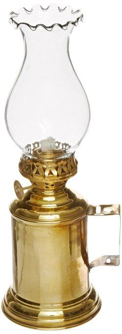Handcrafted Nautical Decor - Solid Brass Tavern Oil Lamp