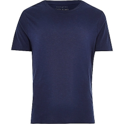 River Island - Slub Crew Neck T-Shirt