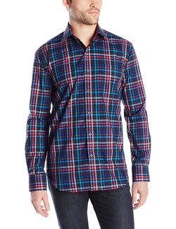 Bugatchi - Bello Multi-Color Plaid Button-Front Shirt