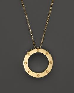 Roberto Coin - 18K Yellow Gold Pois Moi Circle Pendant Necklace, 18""