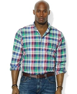 Polo Ralph Lauren  - Big and Tall Long-Sleeve Plaid Shirt