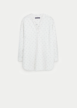 Mango - Polka-Dot Cotton Blouse