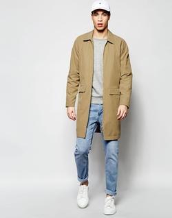 Asos - Zip Front Overcoat