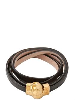 Alexander Mcqueen - Skull Multi Rows Leather Bracelet