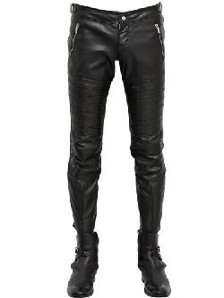 ALEXANDER MCQUEEN - SOFT LEATHER BIKER TROUSERS